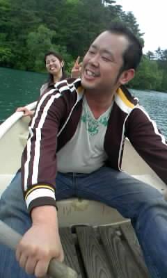 五色沼でボード♪